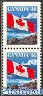 Definitive, flag booklet pair