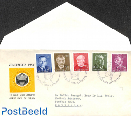 Famous persons FDC, closed cover, typed address