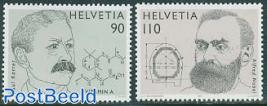Nobel prize 2v, joint issue Sweden