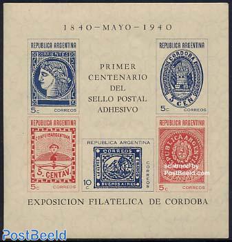 Stamp centenary s/s