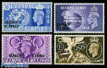 Olympic Games 4v, overprints on UK stamps