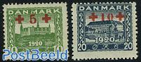 Red Cross overprints 2v