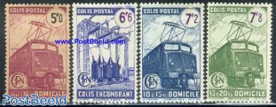 Parcel stamps, railways 4v