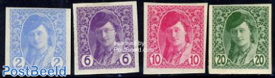 Newspaper stamps 4v, imperforated