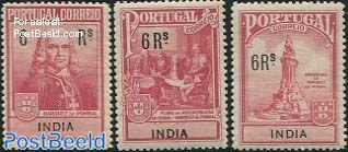 Pombal memorial 3v