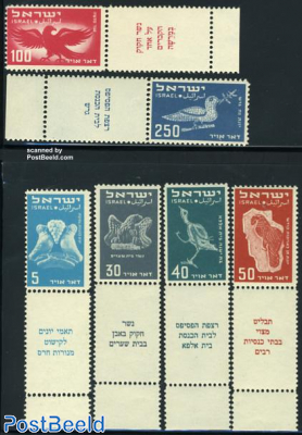 Airmail definitives 6v