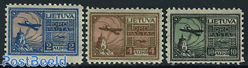 Airmail definitives 3v