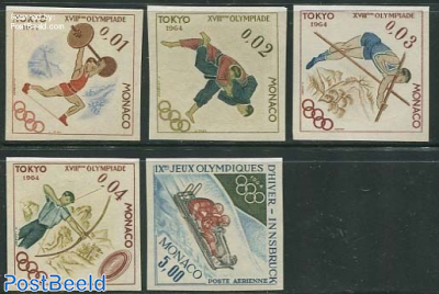 Olympic games 5v, imperforated