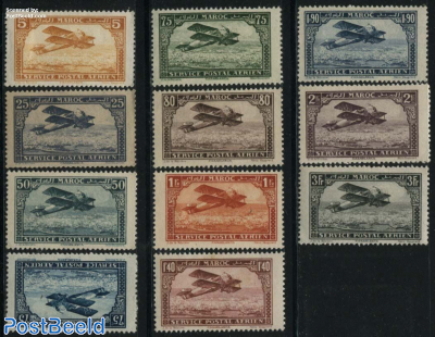 Airmail definitives 11v