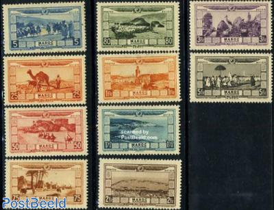 Airmail definitives 10v