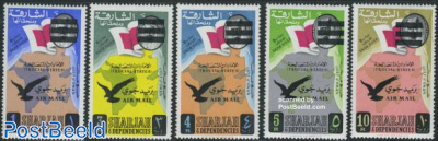 Overprints 5v airmail