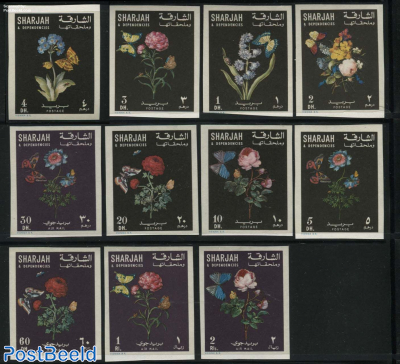 Flowers & Butterflies 11v imperforated