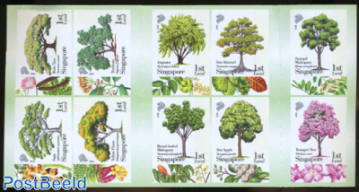 Trees 10v s-a in booklet