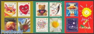 Greetings 10v s-a in booklet