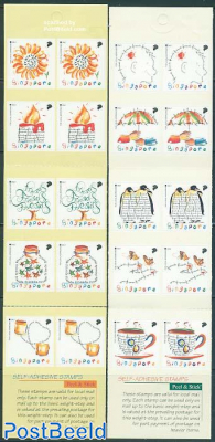 Greeting stamps 2 booklets