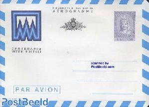 Aerogramme, postal stationary centenary
