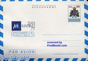 Aerogramme L200, stamp centenary