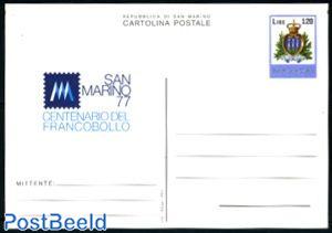 Postcard 120L, stamp centenary
