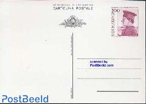 Postcard 200L, Montefeltro