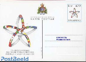 Postcard 400L, UPU congress