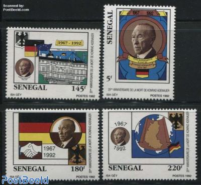 K. Adenauer 4v