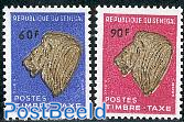 Postage due, lion 2v