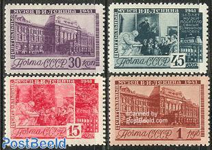 Lenin museum 4v