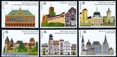 World heritage 6v (from booklet)