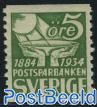 Postal saving bank 1v :=: