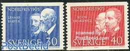 Nobel prize winners 1905 2v