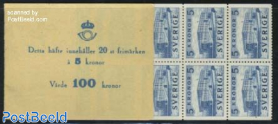 Royal palace booklet with 20 stamps