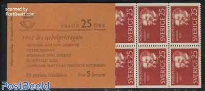 Nobel prize 1902 booklet